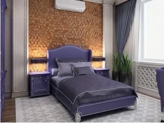Фиолетовый спальный гарнитур