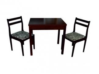 Стол Универсальный квадратный с двумя стульями - Мебельная фабрика «Энгельсская (Эмфа)»
