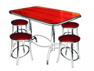 Красная обеденная группа Престиж  - Мебельная фабрика «Мир Стульев»