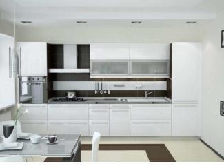 Кухня пластик Arpa (белое золото) - Мебельная фабрика «Ренессанс»