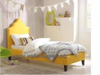 Детская кровать с мягким текстильным изголовьем Лиза - Мебельная фабрика «МебельЛайн»