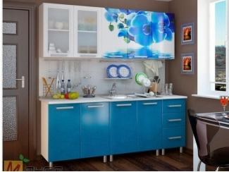 Прямая кухня Ирис с фотопечатью - Мебельная фабрика «Манго»