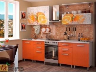 Прямая кухня Апельсин с фотопечатью - Мебельная фабрика «Манго»