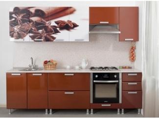 Кухня прямая с фотопечатью - Мебельная фабрика «Пассаж плюс», г. Волгодонск
