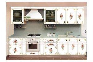 Кухонный гарнитур Александрия с фотопечатью Анжелика - Мебельная фабрика «Александрия», г. Ульяновск