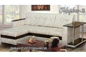 Угловой диван Маркиз 2 с оттоманкой - Мебельная фабрика «РаИра»