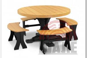 Обеденная группа стол и стул РОБЕРТ - Мебельная фабрика «ВМК-Шале»