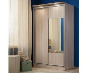 Шкаф-купе с зеркалом и подсветкой  - Мебельная фабрика «Глазовская мебельная фабрика»
