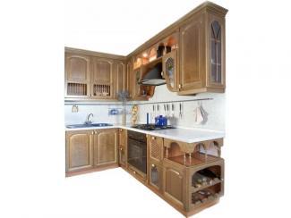 Кухонный гарнитур Ясень цвет бренер орех-патина золото