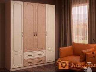 Шкаф в спальню Квартет - Мебельная фабрика «Дятьковское РТП-1»