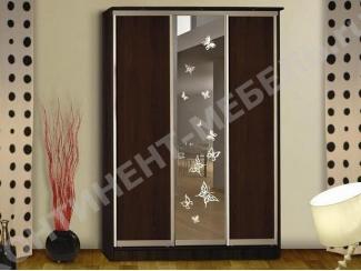 Коричневый шкаф-купе 31 - Мебельная фабрика «Континент-мебель»
