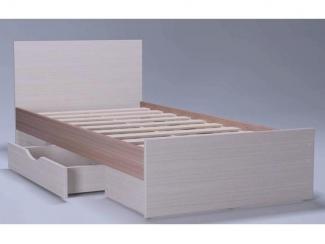 Кровать в спальню Незабудка 1 с ящиком - Мебельная фабрика «Комодофф»