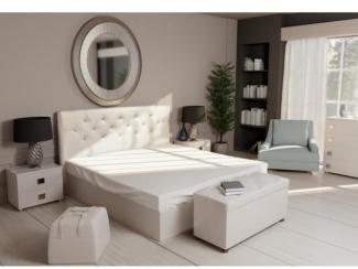 Мягкая кровать Кристалл 2 - Мебельная фабрика «ВичугаМебель»