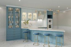 Кухня с полуостровом Edel - Мебельная фабрика «Энгельсская (Эмфа)»