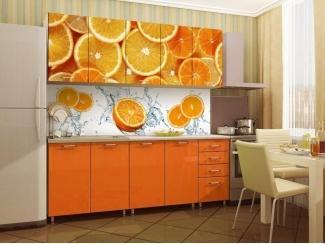 Прямая кухня с фотопечатью Апельсин  - Изготовление мебели на заказ «Союз»