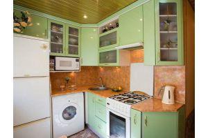 Угловая зеленая кухня - Мебельная фабрика «Барокко Плюс»