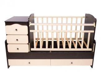 Детская кроватка КТМ-1100 - Мебельная фабрика «Папа Карло»
