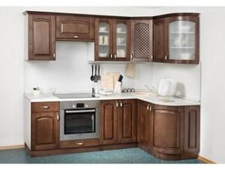 Угловая коричневая кухня  - Мебельная фабрика «Боровичи-мебель»