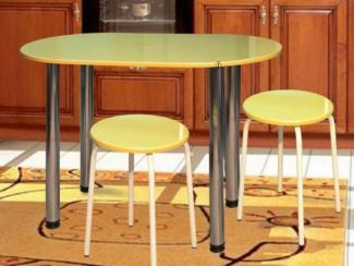 стол обеденный овальный, табурет