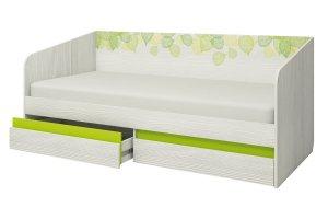 Кровать детская Эко-900.4 с ящиками - Мебельная фабрика «Аквилон»