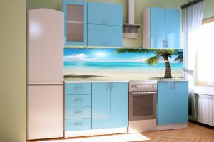 Эконом кухня голубая - Мебельная фабрика «SaEn»