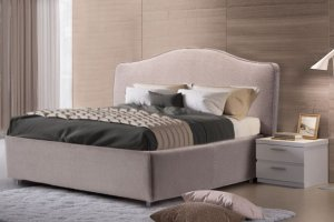 Элегантная кровать София с изогнутым изголовьем  - Мебельная фабрика «Divanger»