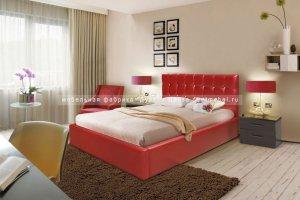 элегантная кровать в современном стиле Мелиса - Мебельная фабрика «Дуэт»
