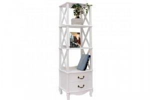 Этажерка Джульетта-2 молочный дуб - Мебельная фабрика «Мебель Импэкс»