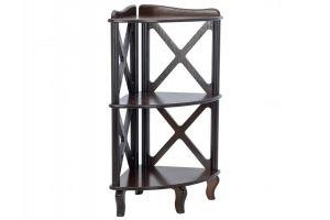 Этажерка-стеллаж угловая Джульетта-2 - Мебельная фабрика «Мебелик»