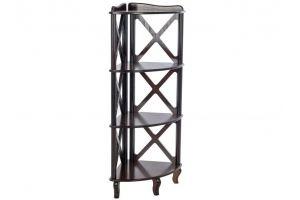 Этажерка-стеллаж угловая Джульетта-3 - Мебельная фабрика «Мебелик»