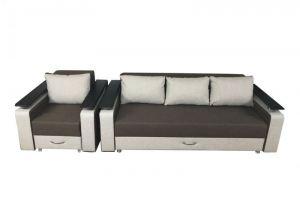 Евро диван с креслом КОМФОРТ - Мебельная фабрика «Мир Комфорта»