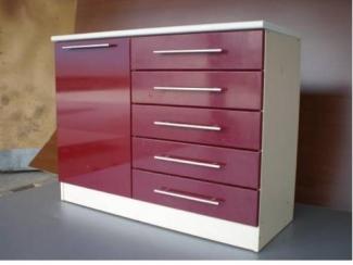 Комод красный 10 - Мебельная фабрика «Интерьер»