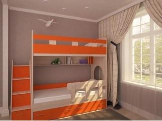 Кровать двухъярусная Юниор 1  - Мебельная фабрика «Сходня Мебель», г. Химки