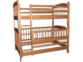 Детская двухъярусная кровать Скаут-4 из натурального дерева - Мебельная фабрика «Дубрава»