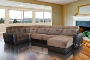 Угловой диван Монте Карло с оттоманкой - Мебельная фабрика «Царь-мебель», г. Брянск