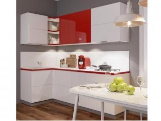 Красно-белая кухня Сан - Изготовление мебели на заказ «Кухни ЧУ»