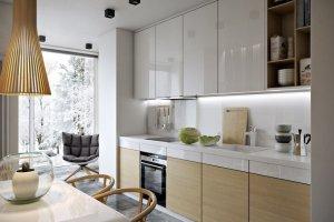 Белая прямая кухня - Мебельная фабрика «Командор»