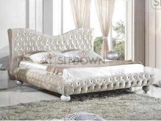 Кровать с каретной стяжкой Аура  - Мебельная фабрика «Sitdown»