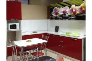Красная кухня с фотопечатью - Мебельная фабрика «МиАн»