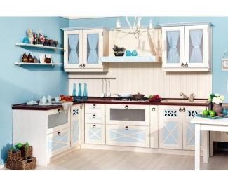 Кухня Амели 2 угловая Дуб Прованс синий - Мебельная фабрика «Любимый дом (Алмаз)»