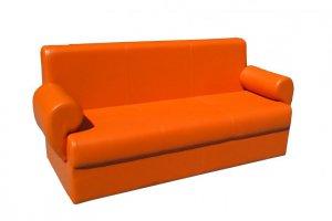 Прямой оранжевый диван   - Мебельная фабрика «Лина-Н», г. Новосибирск