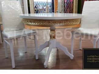 Стол круглый  на одной ноге - Мебельная фабрика «STAR мебель»