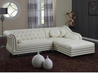 Софра кожаный диван - Мебельная фабрика «Defy Mebel»
