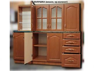 кухня прямая Золушка МДФ (вишня) - Мебельная фабрика «Киржачская мебельная фабрика»