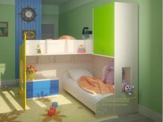 Кровать детская Лайм - Мебельная фабрика «Мезонин мебель»