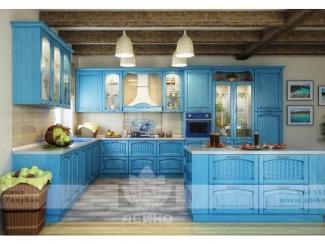 Кухня Корсика Голубая массив - Мебельная фабрика «Абико»