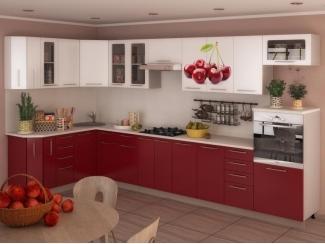 Кухня угловая с фотопечатью  Вишня - Мебельная фабрика «Мега Сити-Р»