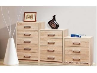 Комод разноуровневый светлый - Мебельная фабрика «Абсолют»