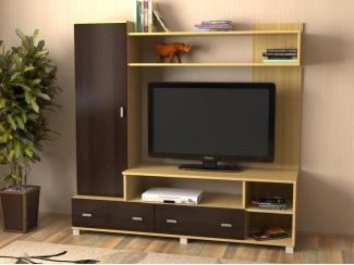 Министенка дуб медовый /дуб венге - Мебельная фабрика «Феникс-мебель»