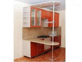 Кухня прямая с барной стойкой  - Мебельная фабрика «Три кита»